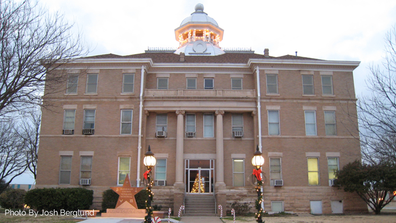 Courthouse at Christmas